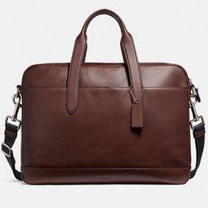 Coach Hamilton leather brief bag